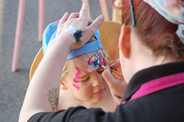 Face Painting a Child